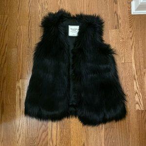 A & F faux fur vest
